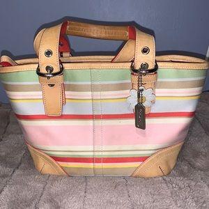 Coach Striped Hamptons Bag